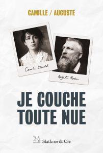 couverture du recueil de lettres échangées entre Camille Claudel et Rodin, publiées en 2016 aux éditions Slatkine & Cie